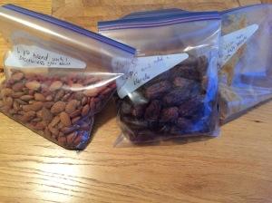 Bags of ingredients